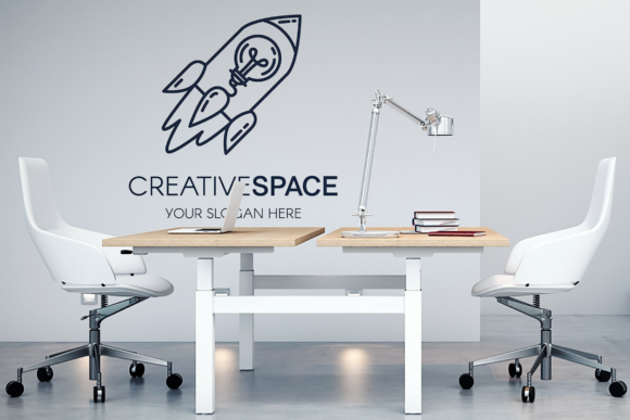 Print on Demand: Creative Idea with Rocket Logo Graphic Logos By barsrsind