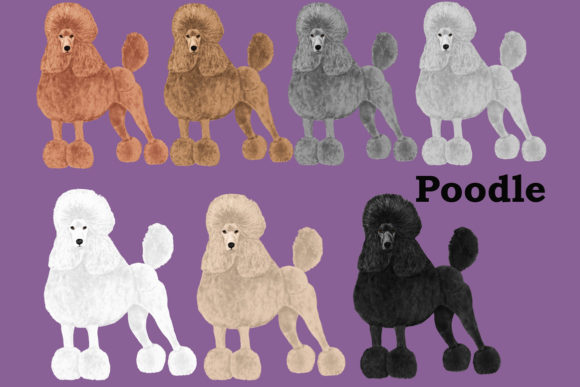 Dog Breeds Clipart Graphic Preview