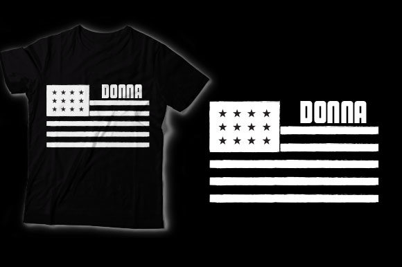 Download Free Donna American Flag Graphic By Shirtgraphic Creative Fabrica for Cricut Explore, Silhouette and other cutting machines.