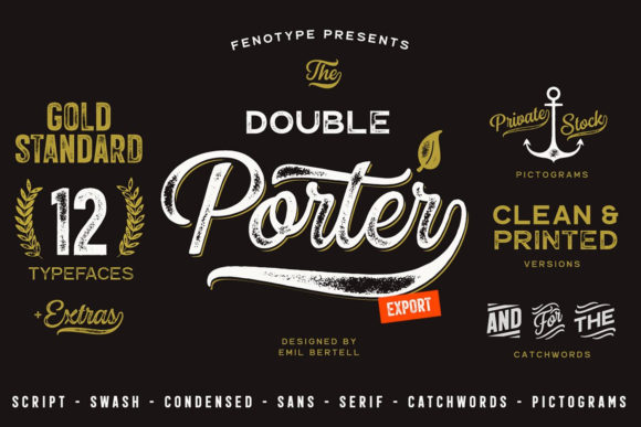 Print on Demand: Double Porter Display Font By fenotypefonts