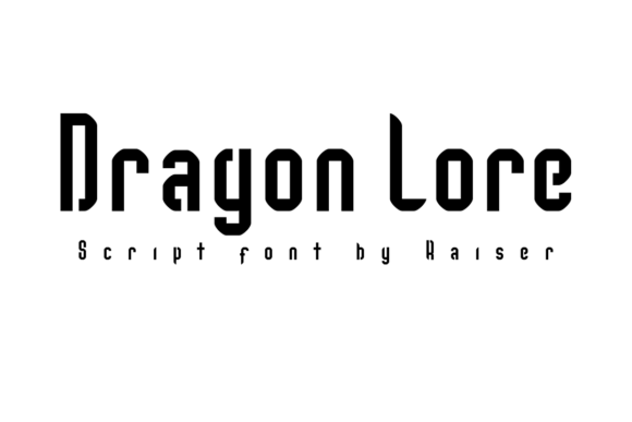 Print on Demand: Dragon Lore Script & Handwritten Font By Allison