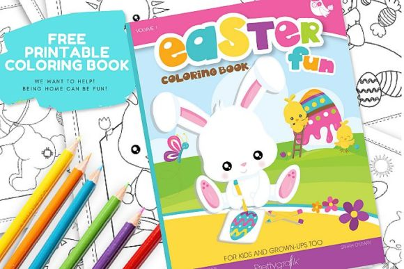 Download Free Easter Coloring Book Graphic By Prettygrafik Creative Fabrica for Cricut Explore, Silhouette and other cutting machines.