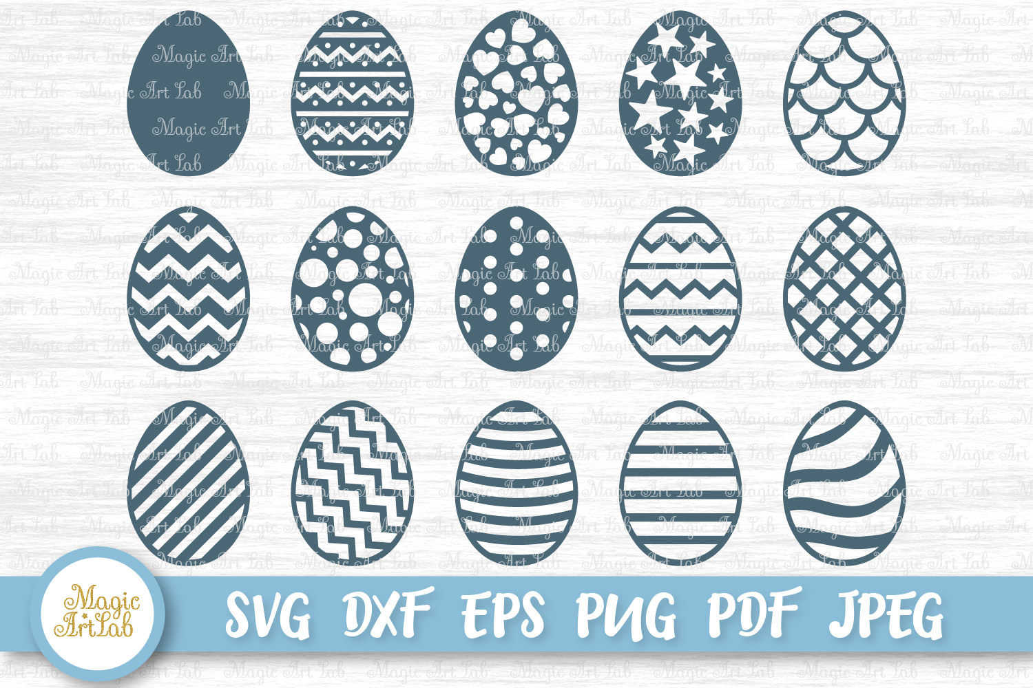 Download Free Easter Egg Graphic By Magicartlab Creative Fabrica for Cricut Explore, Silhouette and other cutting machines.