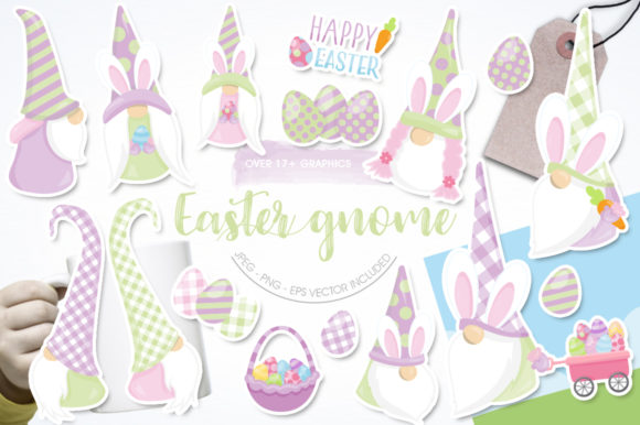 Print on Demand: Easter Gnome Graphic Illustrations By Prettygrafik