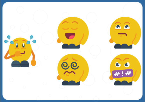 Download Free Emoji People Graphic By Colorkhu123 Creative Fabrica for Cricut Explore, Silhouette and other cutting machines.