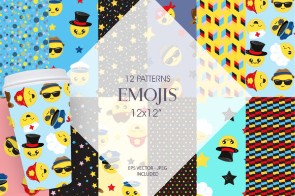 Print on Demand: Emoji Professional Grafik Muster von Prettygrafik