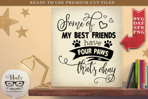 Download Free Four Paws Cut File Graphic By Nerd Mama Cut Files Creative Fabrica for Cricut Explore, Silhouette and other cutting machines.