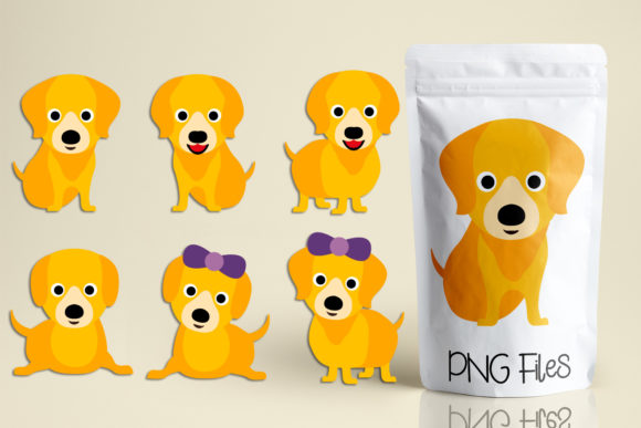 Print on Demand: Golden Retriever Dog Graphic Illustrations By Revidevi