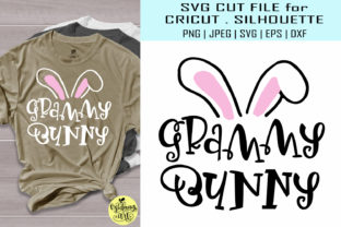 Download Free Grammy Bunny Easter Shirt Graphic By Midmagart Creative Fabrica for Cricut Explore, Silhouette and other cutting machines.