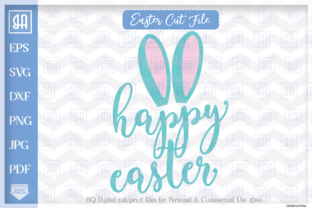 Happy Easter Bunny Bunny Ears Easter Graphic By Blueberry Hill