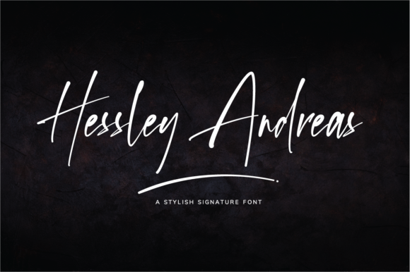 Print on Demand: Hessley Andreas Script & Handwritten Font By silverdav