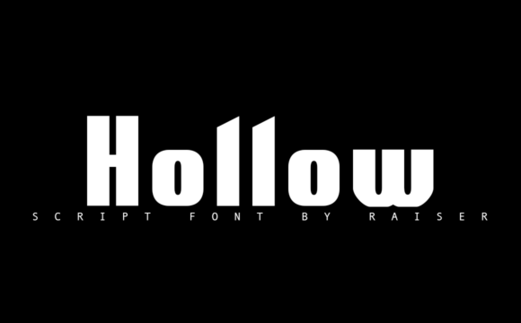 Print on Demand: Hollow Display Font By Allison