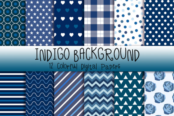 Indigo Background Digital Papers Graphic Backgrounds By PinkPearly