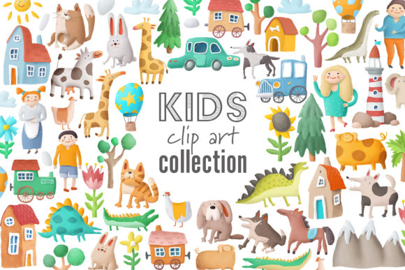 Print on Demand: Kids Clip Art Collection Graphic Illustrations By Architekt_AT