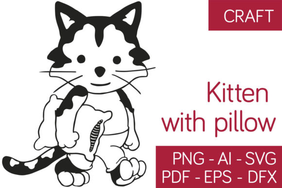 Download Free 1 Little Cat Designs Graphics for Cricut Explore, Silhouette and other cutting machines.