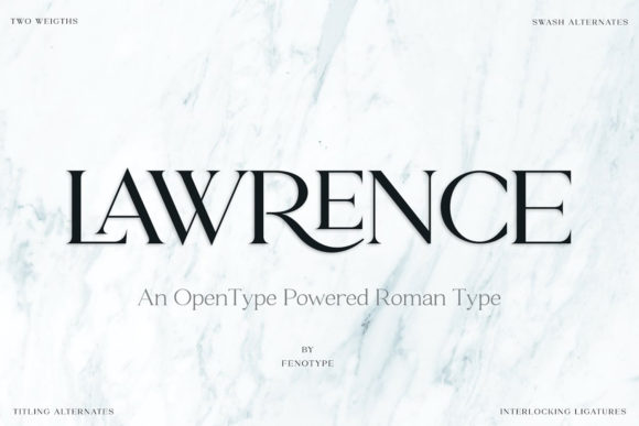 Print on Demand: Lawrence Serif Font By fenotypefonts