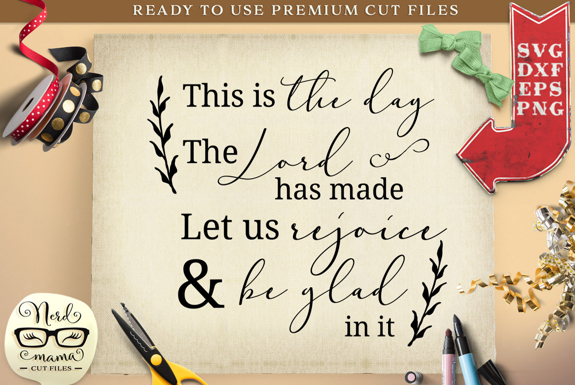 Download Free Let Us Rejoice Graphic By Nerd Mama Cut Files Creative Fabrica for Cricut Explore, Silhouette and other cutting machines.
