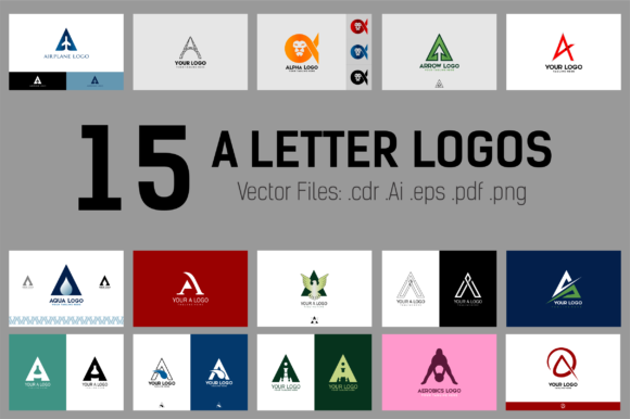 Letter a Vector Logos Collection Grafik Logos von xhafergashi