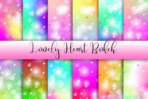 Lovely Heart Bokeh Background Graphic Backgrounds By PinkPearly