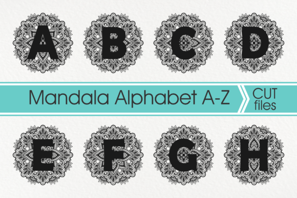 Download Free Mandala Alphabet Mandala Letter Graphic By Pinoyartkreatib Creative Fabrica for Cricut Explore, Silhouette and other cutting machines.