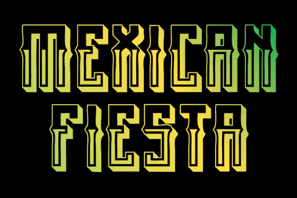 Print on Demand: Mexican Fiesta Blackletter Font By qkila - Image 1