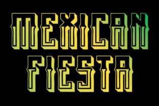 Print on Demand: Mexican Fiesta Blackletter Font By qkila