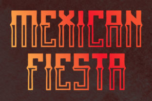 Print on Demand: Mexican Fiesta Blackletter Font By qkila 2