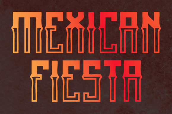 Print on Demand: Mexican Fiesta Blackletter Font By qkila - Image 2