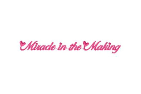 Miracle in the Making Boys & Girls Embroidery Design By Sue O'Very Designs