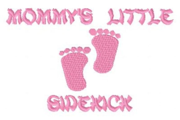 Mommy's Little Sidekick Boys & Girls Embroidery Design By Sue O'Very Designs