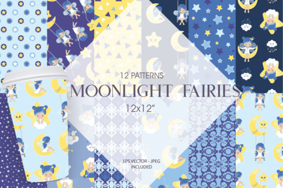 Print on Demand: Moonlight Fairies Graphic Patterns By Prettygrafik