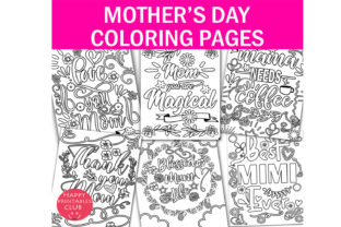 Mothers Day Coloring Graphic Coloring Pages & Books Kids By Happy Printables Club