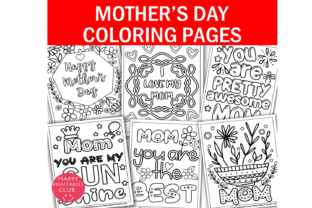 Mothers Day Coloring Pages Printables Graphic Coloring Pages & Books Kids By Happy Printables Club