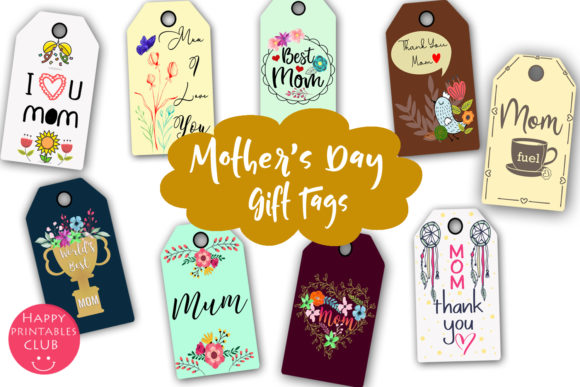 Mother S Day Gift Tags Printable Tags Graphic By Happy