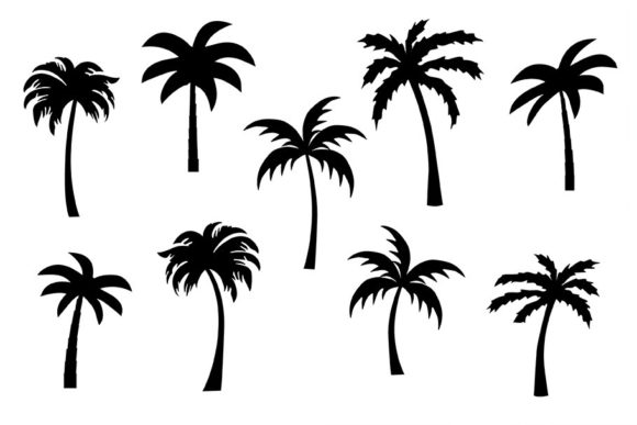 Download Free Palm Trees Clipart Graphic By Melissa Held Designs Creative for Cricut Explore, Silhouette and other cutting machines.