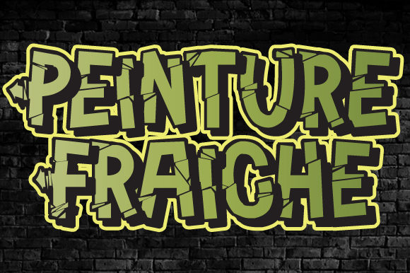 Print on Demand: Peinture Fraiche Display Font By qkila