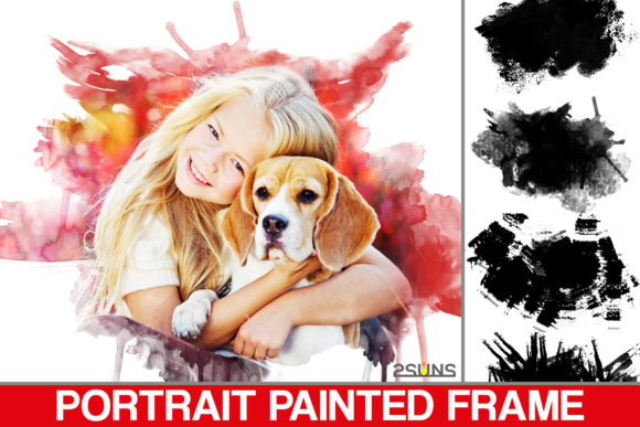 Portrait Paint Masks Photoshop Overlay Graphic Layer Styles By 2SUNSoverlays