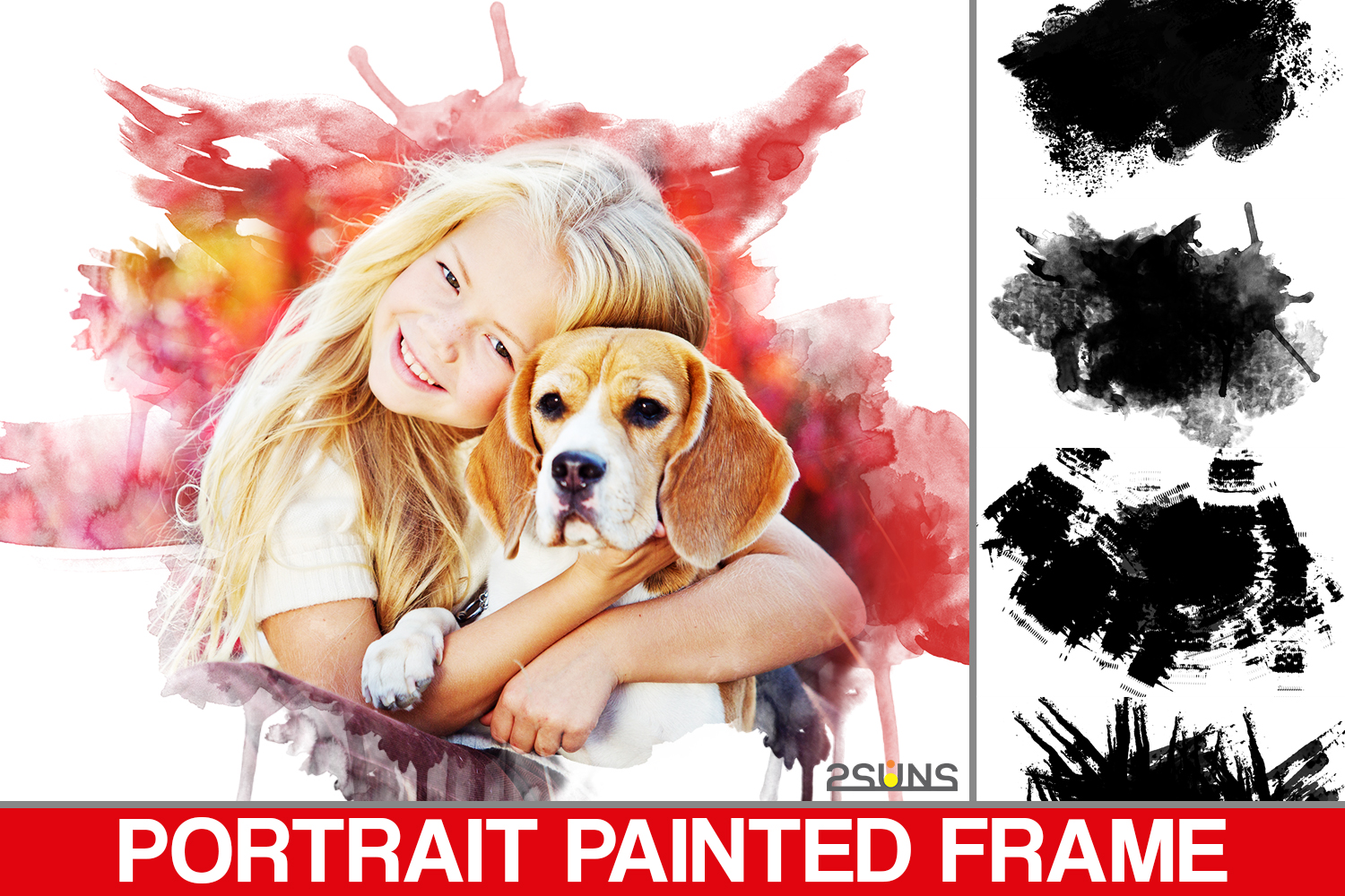 Download Free Portrait Paint Masks Photoshop Overlay Graphic By 2suns for Cricut Explore, Silhouette and other cutting machines.