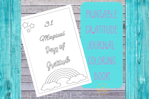 Print on Demand: Printable Unicorn Gratitude Journal Graphic Coloring Pages & Books Kids By jpjournalsandbooks