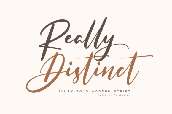Print on Demand: Really Distinct Script & Handwritten Font By Haksen