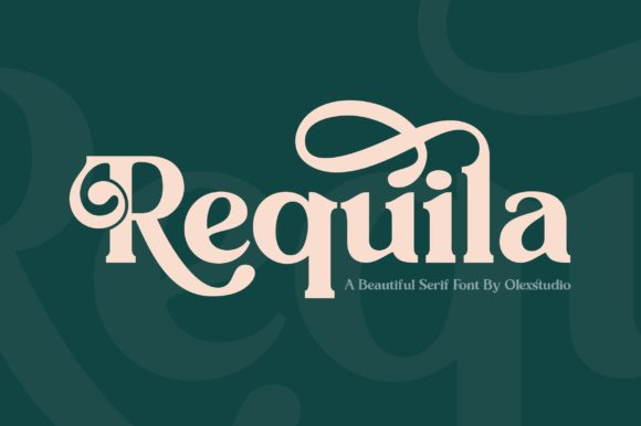 Print on Demand: Requila Serif Font By Olexstudio