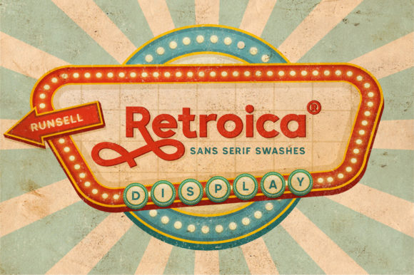 Print on Demand: Retroica Display Font By Runsell Graphic