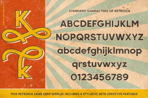 Print on Demand: Retroica Display Font By Runsell Graphic - Image 6