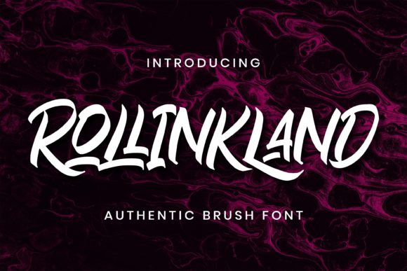 Print on Demand: Rollinkland Script & Handwritten Font By almarkhatype