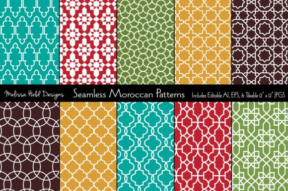 Seamless Moroccan Patterns Graphic Patterns By Melissa Held Designs