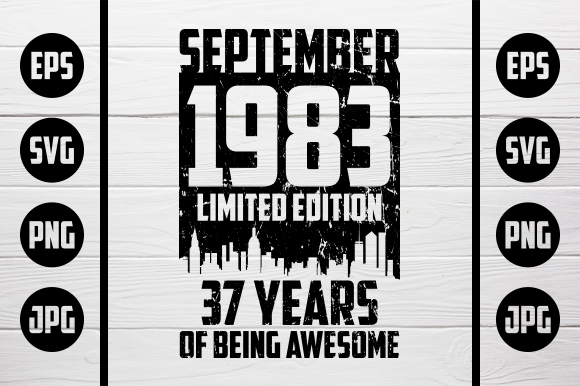 Download Free September 1983 Tshirt Design Graphic By Zaibbb Creative Fabrica for Cricut Explore, Silhouette and other cutting machines.