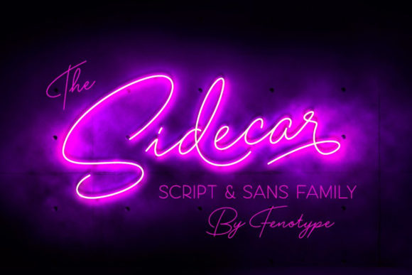 Print on Demand: Sidecar Script & Handwritten Font By fenotypefonts