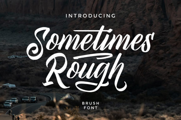 Print on Demand: Sometimes Rough Script & Handwritten Font By Arterfak Project