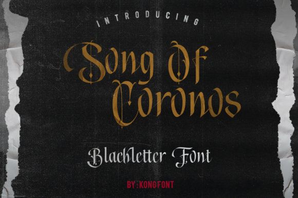 Print on Demand: Song of Coronos Blackletter Font By fontkong - Image 1