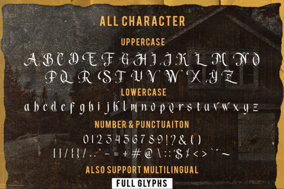 Print on Demand: Song of Coronos Blackletter Font By fontkong - Image 2
